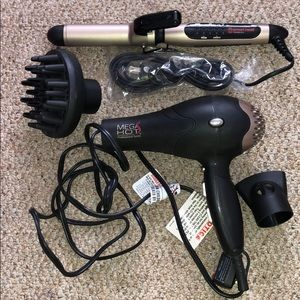 Mega Hot Blow Dryer and Curling Iron Set